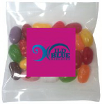 Square Magnet with Mini Bag of Jelly Bellys
