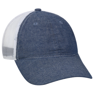 Chambray Heavy Washed Mesh Back Baseball Cap