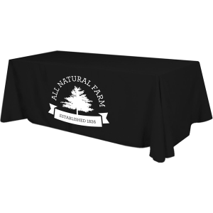 4 Sided Budget Polyester Table Cover - 8 foot