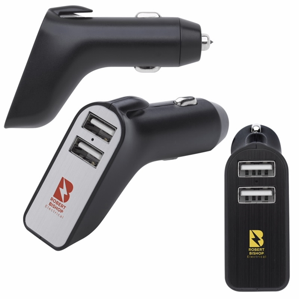 3-in-1 Car Charger with Emergency Tools | Brand Makers